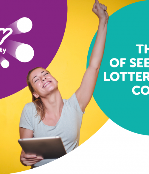 Joy fo seeing your lottery numbers come up!